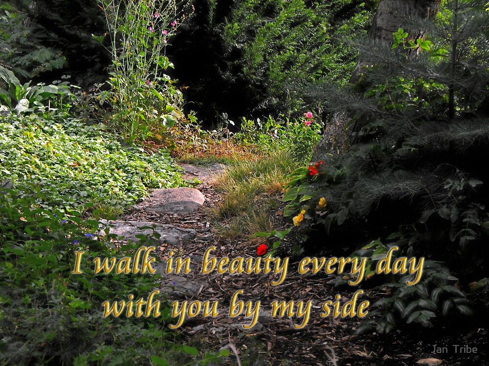 I Walk in Beauty Every Day..... (Country Garden card # 2) by Jan  Tribe