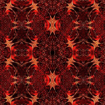 Red and Gold Pattern  by MidnightRain