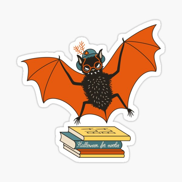 Bat granny in the library  Sticker