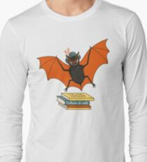 Bat granny in the library  Long Sleeve T-Shirt