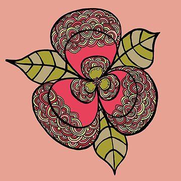 Flower Line Art Sticker by PipPipHooray