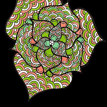 Detailed Flower Line Art by PipPipHooray