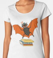 Bat granny in the library  Women's Premium T-Shirt