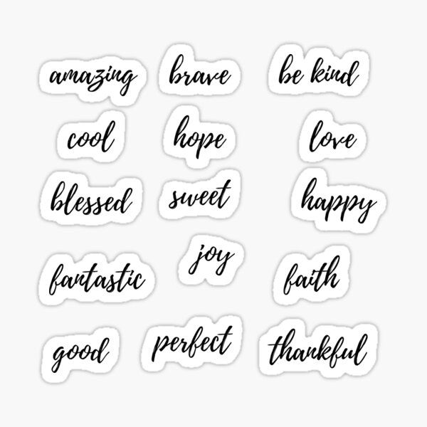 Positive words Sticker