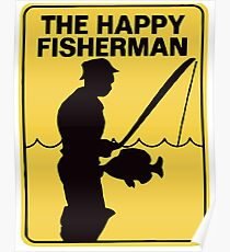 Funny fishing Poster