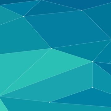 turquoise horizontal polygonal   by aduran
