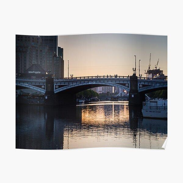 Melbourne Princes Bridge Poster