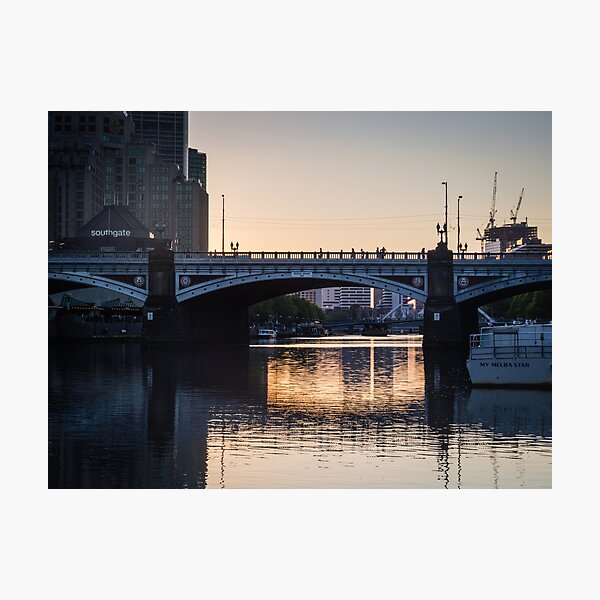 Melbourne Princes Bridge Photographic Print