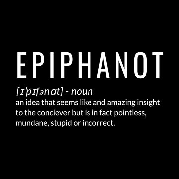 Epiphanot and idea that seems like an amazing insight to the coniceiver by jp-trading