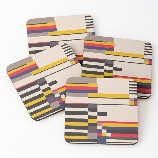 Geometric design - Bauhaus inspired Coasters (Set of 4)