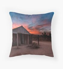 The Old Moxans Hut Throw Pillow