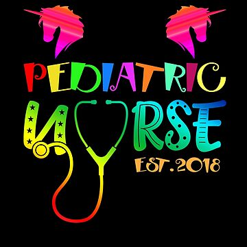 Pediatric Nurse Est. 2018 Tshirt Graduation Gift by Basti09