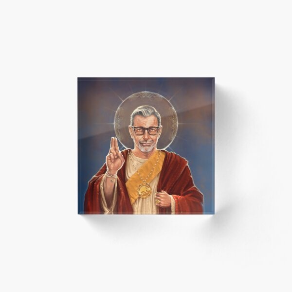 Saint Jeff of Goldblum - Jeff Goldblum Original Religious Painting Acrylic Block