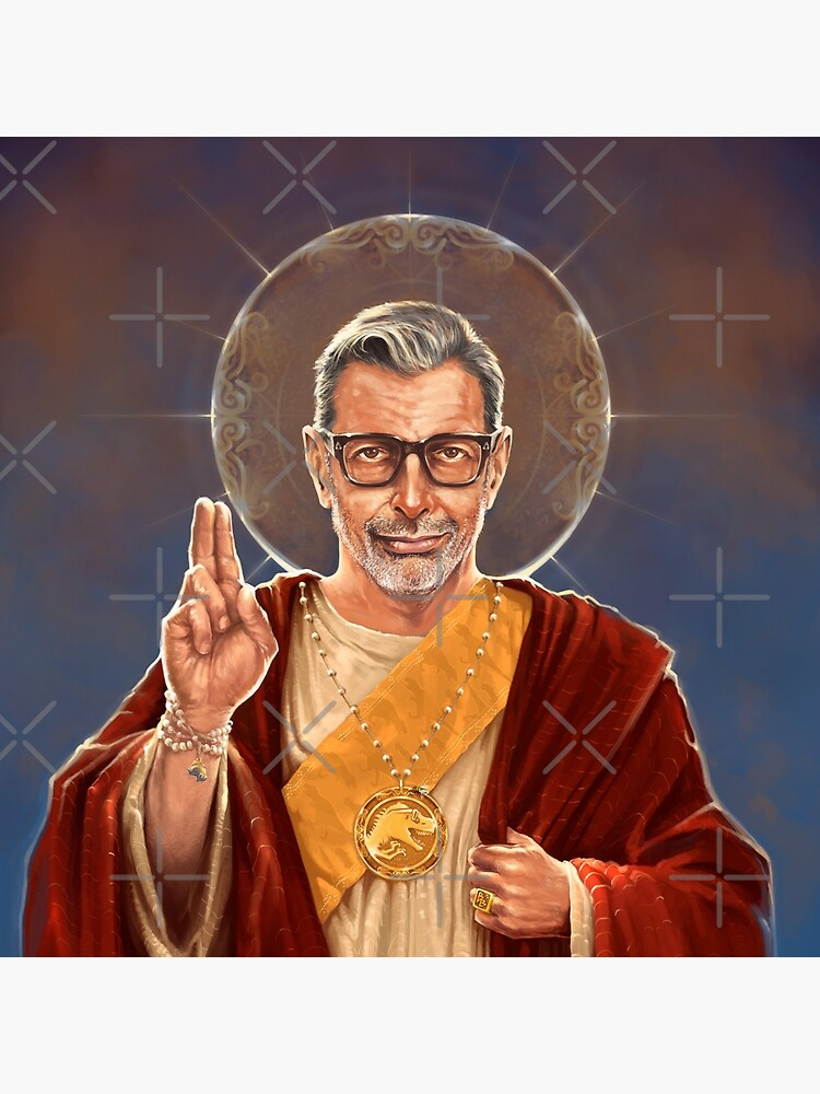 Saint Jeff of Goldblum - Jeff Goldblum Original Religious Painting by 6amCrisis