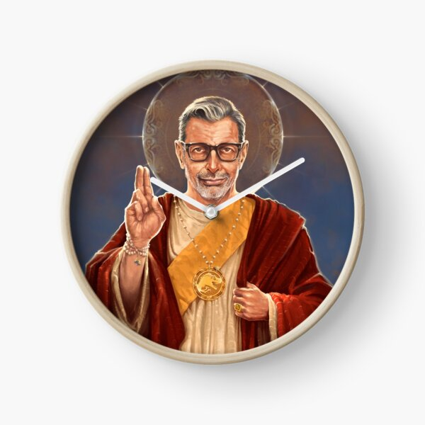 Saint Jeff of Goldblum - Jeff Goldblum Original Religious Painting Clock