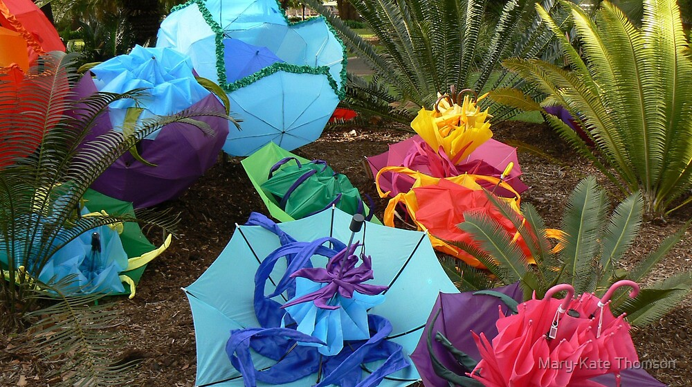 Umbrelliads 1, Avant Garden, Carnival of Flowers, Toowoomba. 2008. by Mary-Kate Khoo