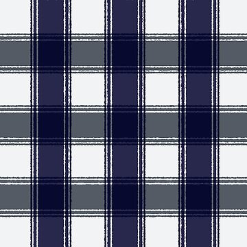 Plaid navy blue and gray by hellcom