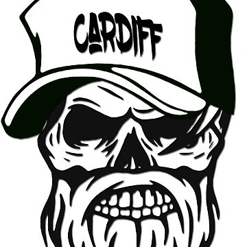 Cardiff Wales Hometown Hipster Skull Trucker Cap Death by lemmy666