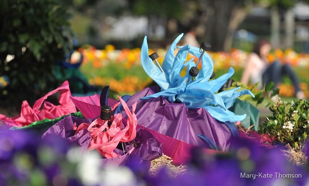 Umbrelliads 3 Avant Garden, Carnival of Flowers, Toowoomba. 2009. by Mary-Kate Khoo