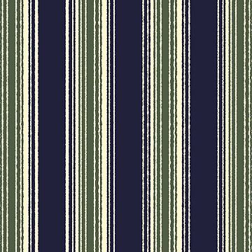Navy blue and sage green stripes by hellcom