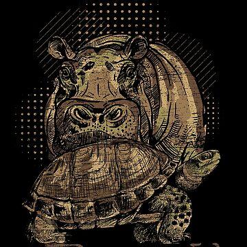 Hippo turtle by GeschenkIdee