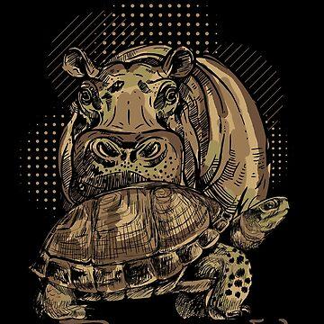 Hippopotamus turtle by GeschenkIdee