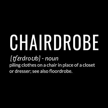 Chairdrobe piling clothes on a chair by jp-trading