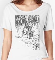 drawing tractor and nature Women's Relaxed Fit T-Shirt