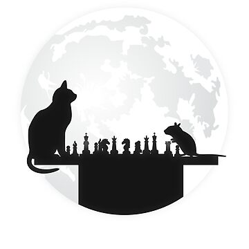 The Chess Board - The Cat, The Mouse And The Full Moon by noirty