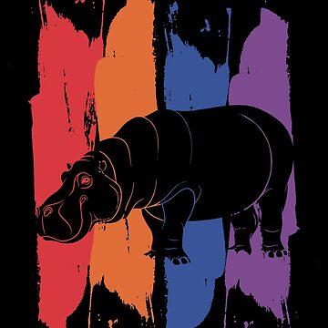 Hippopotamus animal by GeschenkIdee