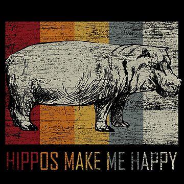 Hippo animal lover by GeschenkIdee