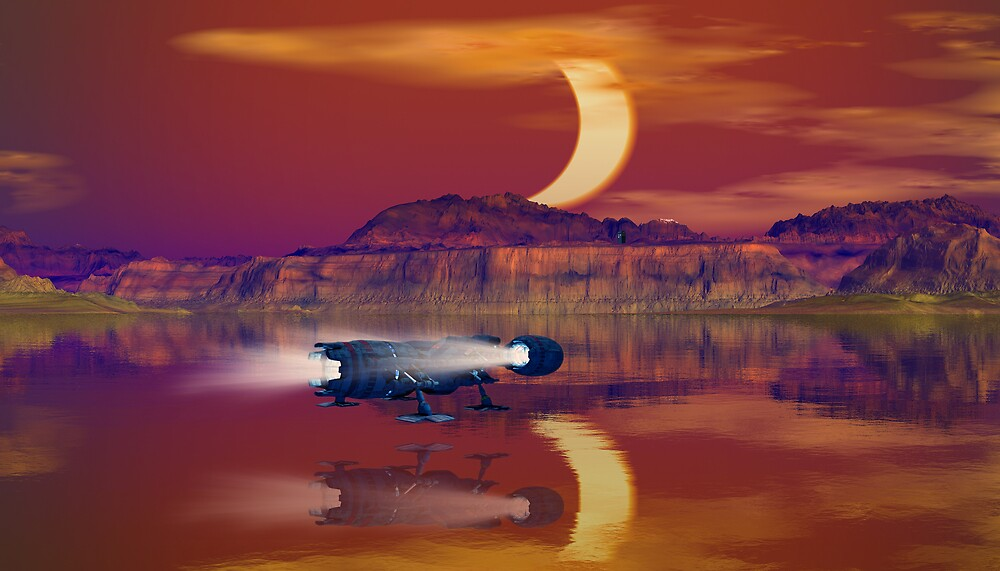 Eclipse On An Unnamed World by Hugh Fathers