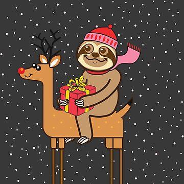 Sloth Xmas by plushism