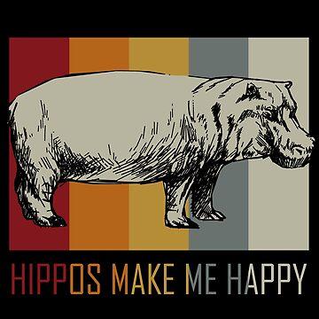 Hippopotamus animal lover by GeschenkIdee