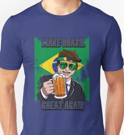 Men Bolsonaro 2018 para presidencia do Brasil T-Shirt Short Sleeve Size S-3XL