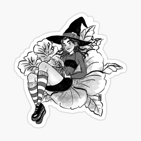 Hibiscus Witch Sticker