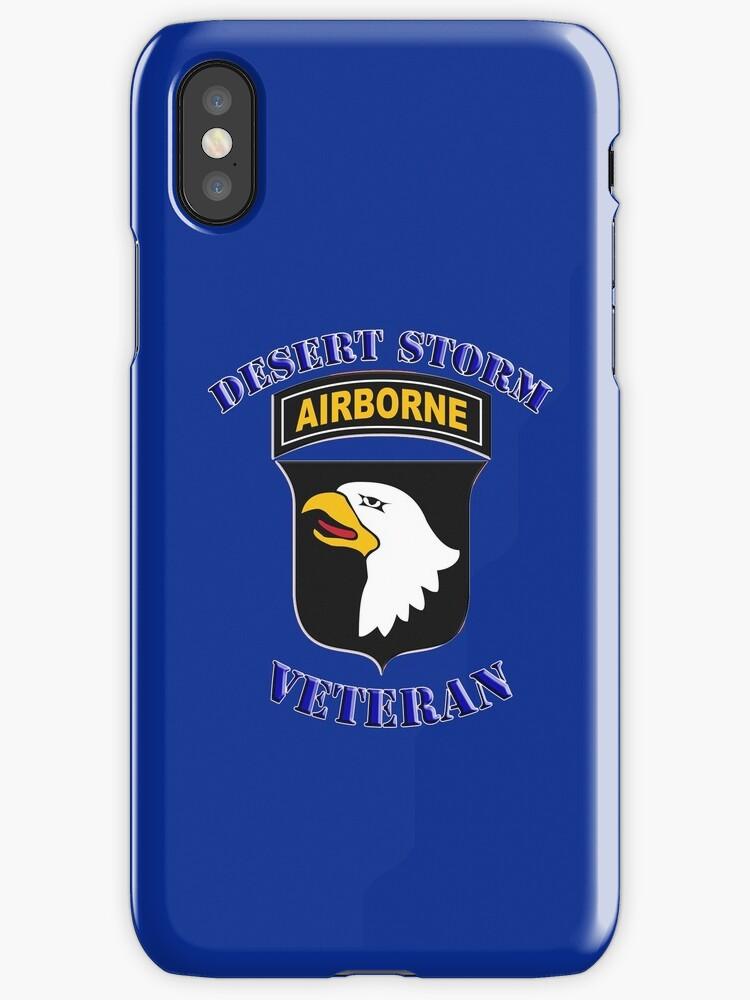 101st Airborne Desert Storm Veteran - iPhone Case by Buckwhite