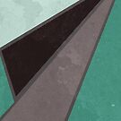 Geometrical Shapes in Retro Colors Green Brown Shades by ibadishi