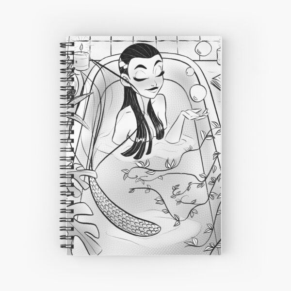 Mermaid Bathtime Spiral Notebook