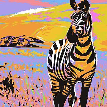Zebra Poster Design by NoraMohammed