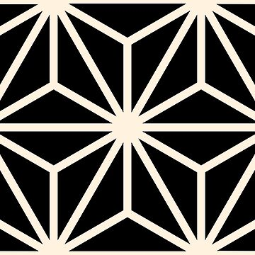 Geometric Pattern: Art Deco Star: Cream/Black by redwolfoz