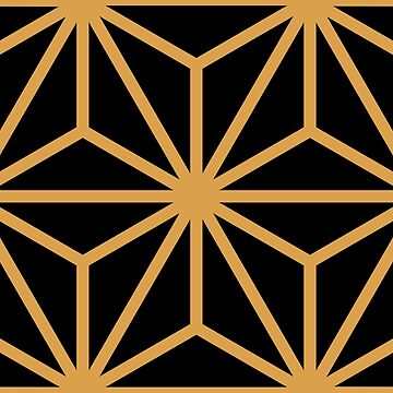 Geometric Pattern: Art Deco Star: Gold/Black by redwolfoz