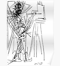 Pablo Picasso, Portrait of Pirosmani, 1972 Artwork, Posters, Tshirts, For Men, Women, Youth, Kids Poster