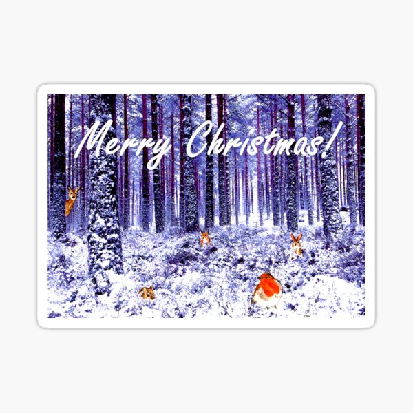 Winter Wonderland Christmas Card Sticker