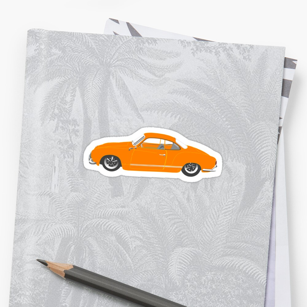 Orange Karmann Ghia by MangaKid