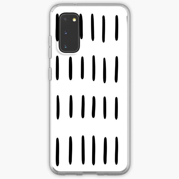 Nordic Hand painted Scandi Lines Minimalist Black and White Skandi Scandinavian Pattern Samsung Galaxy Soft Case