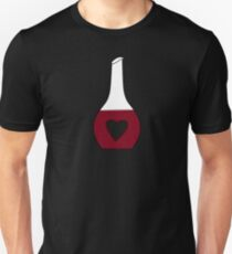 Heart Decanter (I heart red wine, Black BG) T-Shirt