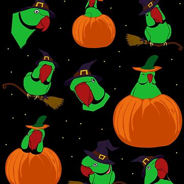 green indian ringneck halloween pattern by FandomizedRose