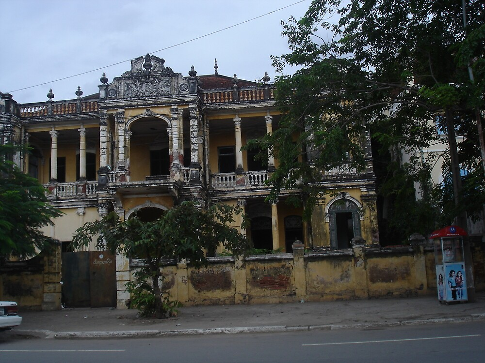 Decrepit Mansion in Phnom Penh - Remnants of Former Glory by BRIGHTEY84