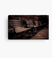 Benches of Bowring Canvas Print